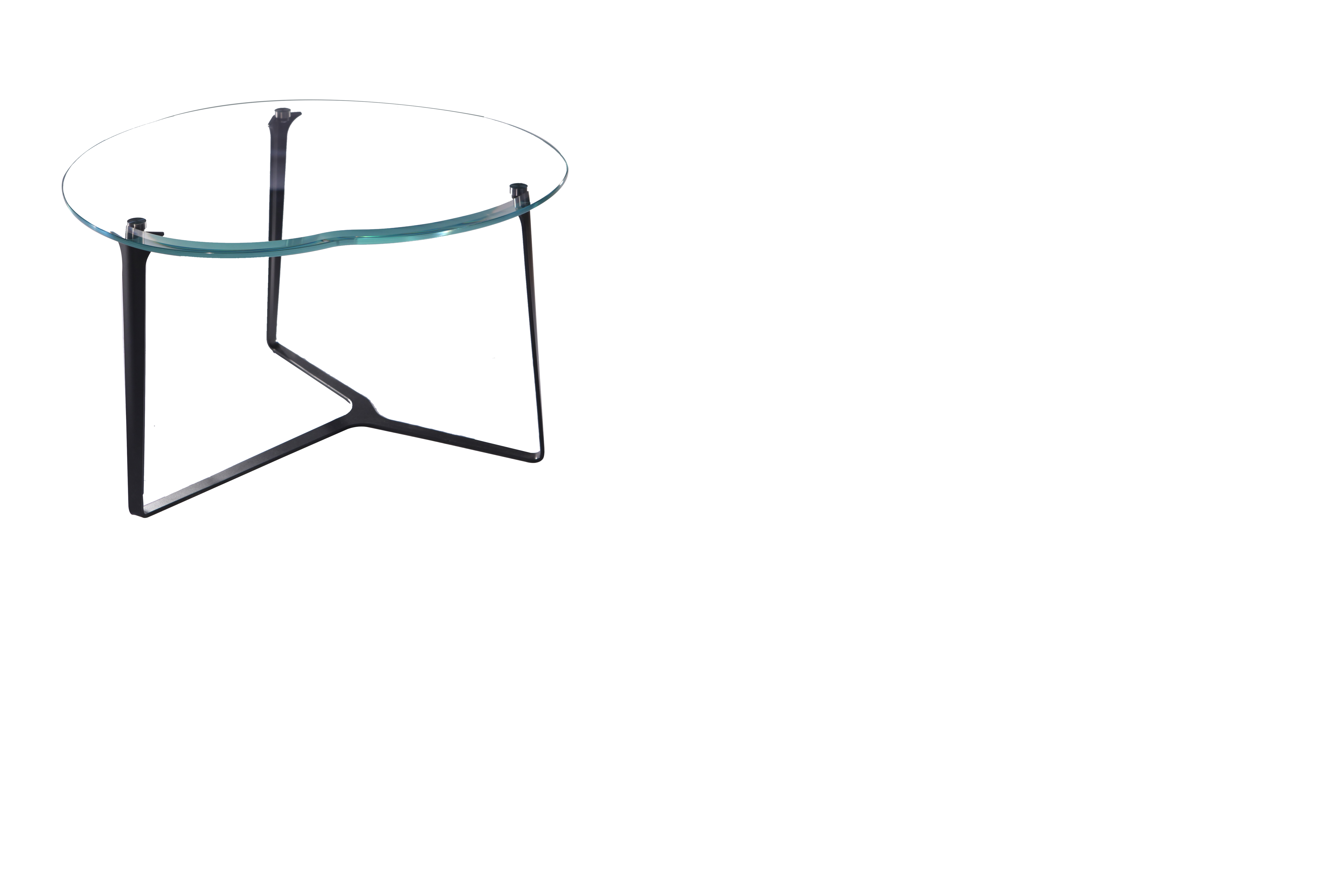 Apple crystal coffee table coffee table low and comfortable thin steel base tempered glass ultra clear made in Italy handmade by master craftsmen beautiful for luxury living rooms a product Greyge